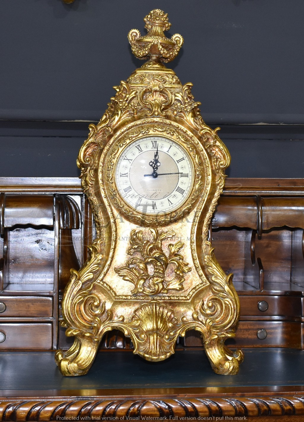 Orologio da Tavolo stile antico barocco statua decoro floreale clock ST9322